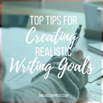 realistic writing goals